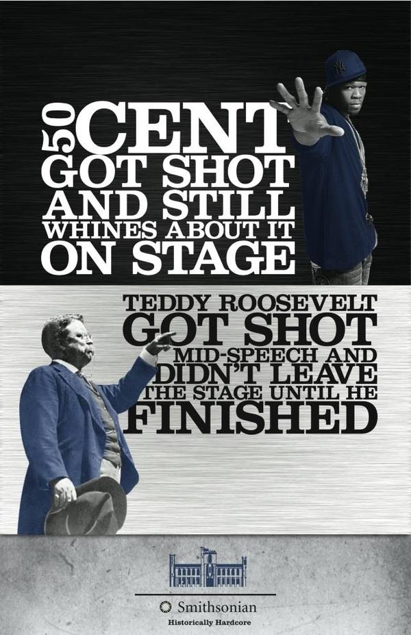 50 Cent vs Teddy Roosevelt